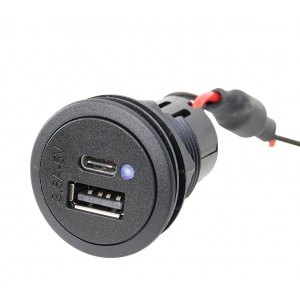 USB A-C charging sockets round